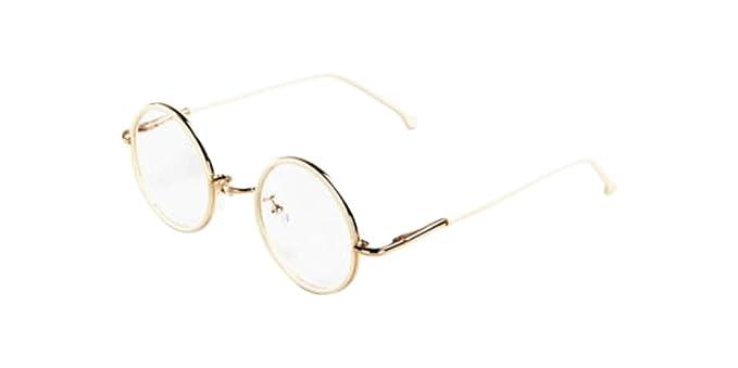 Amazon.com: White Vintage Small Round Eyeglass Frames Glass ...