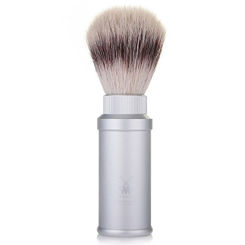 Muhle Silvertip Fibre Travel Shaving Brush - Anodized Aluminum
