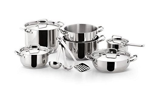 Lagostina Sfiziosa - Batería de Cocina, Acero Inoxidable, 13 Piezas