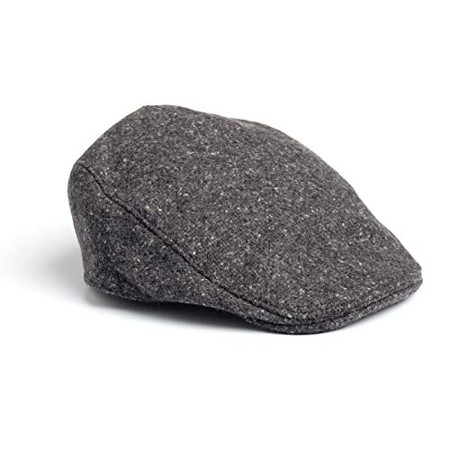 Donegal Touring Cap Tweed Hat - Brown Herringbone (Salt & Pepper, Large)