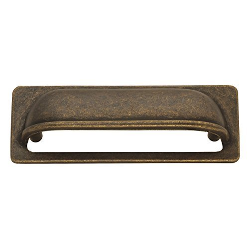 Hickory Hardware PA1023-WOA Oxford Antique Cup Cabinet Pull, 3-Inch, Windover Antique by Hickory Hardware