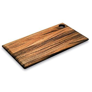 Ironwood Gourmet, Acacia Wood, 18-inch by 10-inch x .75-inch Everyday Cutting Board