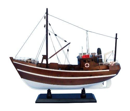 """Hampton Nautical  Fishin Impossible Decorative Fishing Boat, 19"""""""