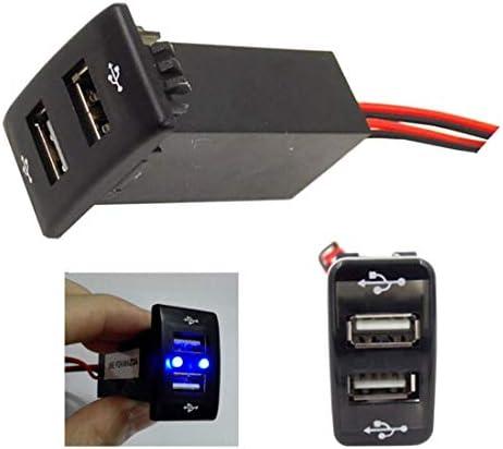 車5V 2.1Aマツダのための可聴周波入力ソケットの使用を用いるUSBインターフェイスソケットの充電器そしてUSB