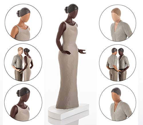 Wedding Cake Topper Figurines. Mix & Match in ANY Combination and Choose from our Rustic Range of Beautiful Brides and Grooms. African American. Dark Skin Tone Female