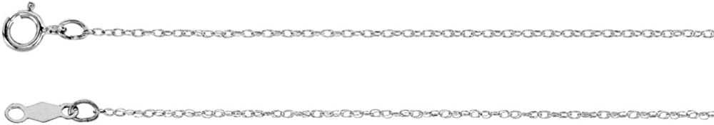 Jewels By Lux 14K White Gold .75mm Rope Chain