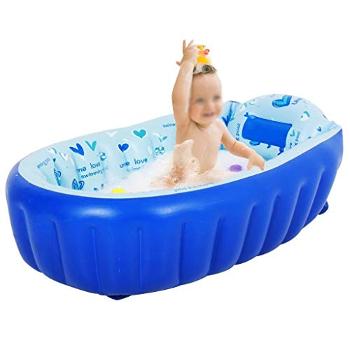 LDY Blue-Inflatable Baby Bathtub, Newborn Inflatable Foldable Shower Pool by LDY (Image #6)