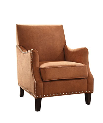 ACME Sinai Orange Fabric Accent Chair (Orange Armchair)