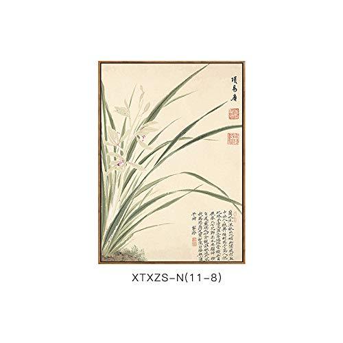botanische Malerei Dekorative Blumenmustermalerei Elegante Elegante Chinesische Moderne DEED und Wandmalerei Schlafzimmermalerei H Wohnzimmerdekorationsmalerei vIwxPXt