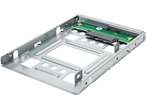 "Rosewill 2.5"" SSD To 3.5"" SATA Hard Disk Drive HDD Adapter Caddy Tray Cage Hot Swap Plug Converter Bracket Compatible with All The 3.5"" SATA/ SAS Drive Caddie Trays for HP Dell IBM Lenovo (RSA-HA001)"