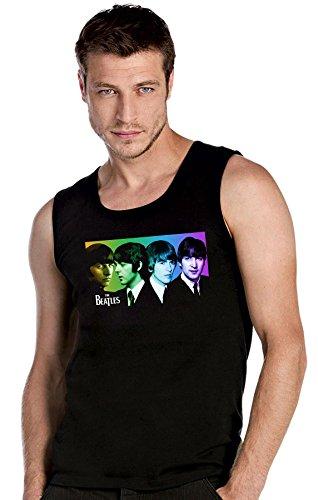 THE BEATLES Rules Rock schwarze Top Tank T-Shirt -2087