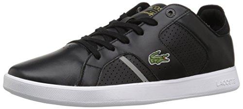 Lacoste Mäns Novas Ct Sneakers Svart / Grå Läder