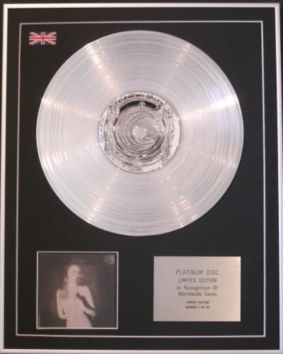 THE BIG PINK - Limited Edition CD Platinum Disc - A BRIEF HISTORY OF LOVE (The Big Pink A Brief History Of Love)