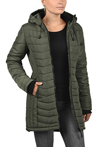 Colour 77200 Women's BlendShe Jacket Coat M Quilted Green Size Outdoor Parka Peat with Nelly Hood 6wn5qrwP
