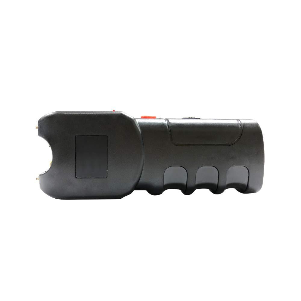 Reax Stun Gun 10 Million Volt Portable Rechargeable with LED Flashlight Personal Defense (Black)