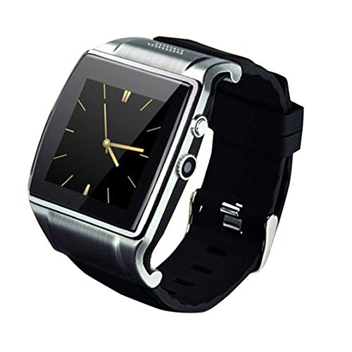 Alloet New Hi Watch2 Bluetooth Smart Watch WristWatch 2.0MP Camera for iPhone Android (Silver)