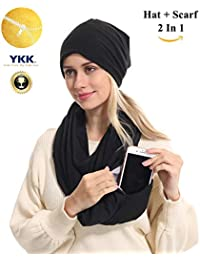 USAstyle Premium Women Infinity Scarf With Zipper...