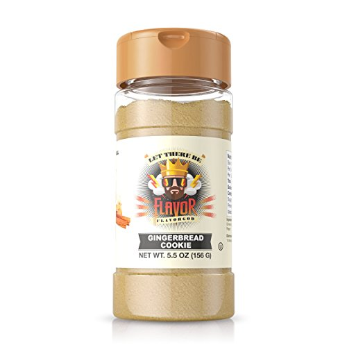 - Flavor God #1 Best-Selling Seasonings, Gingerbread Cookie, 1 Bottle, 5 oz