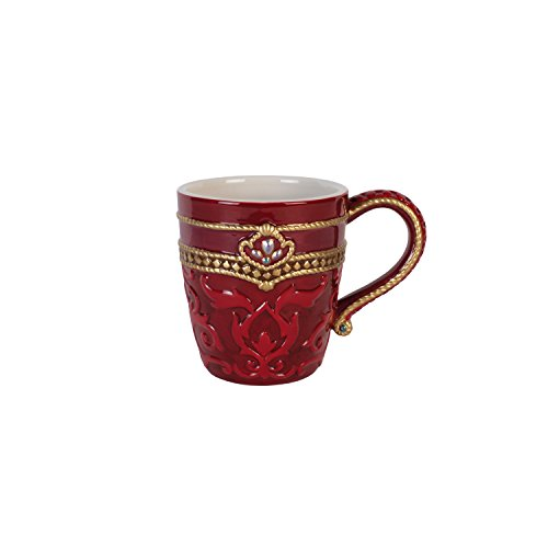Fitz and Floyd 49-676 Renaissance Holiday Mug Coffee Drinkware, Red White