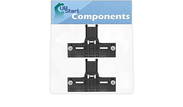 Compatible with W10350376 Rack Adjuster Dishwasher Upper Top Adjuster with Wheels UpStart Components 2-Pack W10350376 Dishwasher Top Rack Adjuster Replacement for KitchenAid KUDS30SXWH4 Washer