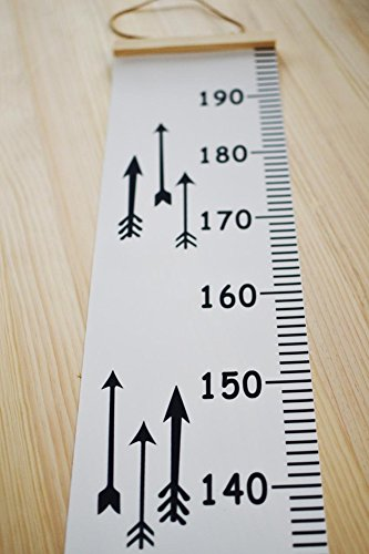 Baby Height Growth Chart Hanging Rulers Kids Room Wall Wood Frame Canvas Ruler Room Decoration 79''x7.9'' (Arrow) by Sevend