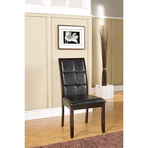 Alpine Havenhurst Merlot Acacia Dining Chairs (Set of 2) (Merlot Dining Set Room)