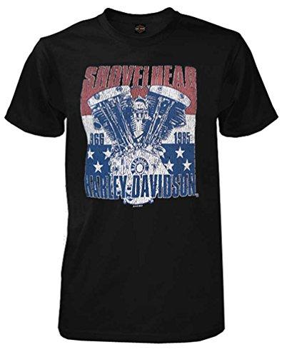 Patriot Harley Davidson - Harley-Davidson Men's The Patriot V-Twin Short Sleeve T-Shirt, Solid Black (L)