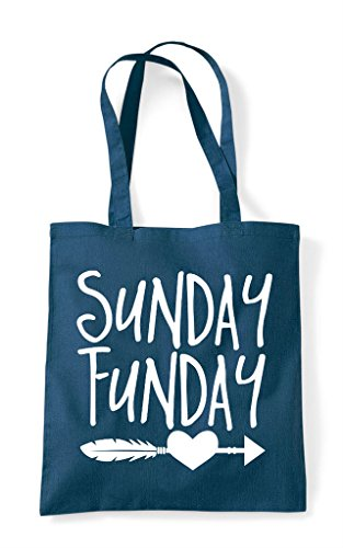 Sunday Statement Heart Bag Funday Shopper Feather Petrol Tote tRrwWtnq1a