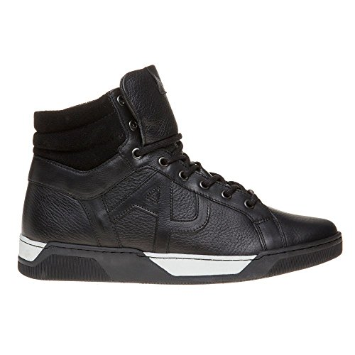 Armani Jeans High Top Herren Sneaker Schwarz Schwarz