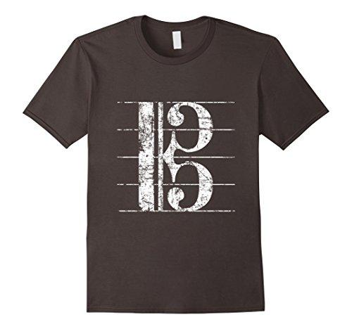 Apparel Viola - Men's Alto Clef, Viola Key Sheet Lines T-shirt Small Asphalt