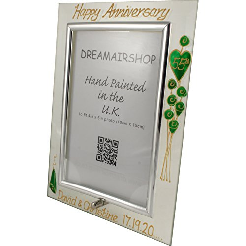 Personalized 55th Wedding Emerald Anniversary Frame (P) 35 CHARACTERS EXTRA P...