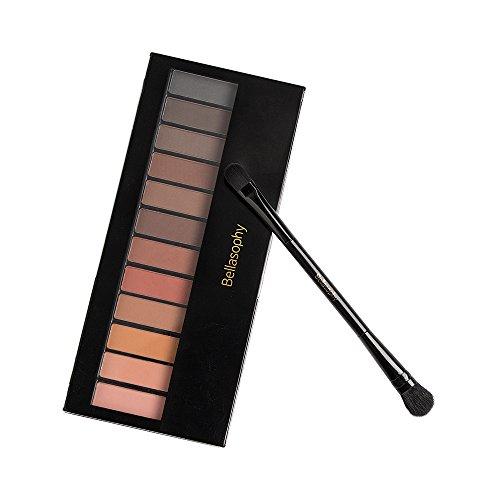 Bellasophy Professional Long Lasting Matte Smooth Waterproof Eyeshadow Palette Powder 12 Colors Makeup by Bellasophy (Image #5)