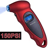 Tire Pressure Gauge, 150 PSI Digital Tire Gauges with Backlight LCD for Car, Truck, Motor Vehicle, Bicycle - Ensure 100% Safety for Each Driving