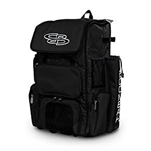 "Boombah Rolling Superpack Baseball/Softball Gear Bag - 23-1/2"" x 13-1/2"" x 9-1/2"" - 42 Colors - Telescopic Handle and Holds 4 Bats - Wheeled Version"