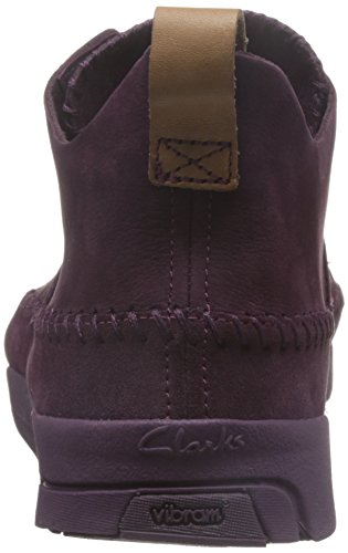 Clarks Originals Trigenic Flex, Scarpe Basse Uomo Viola (Purple Grape Nub)
