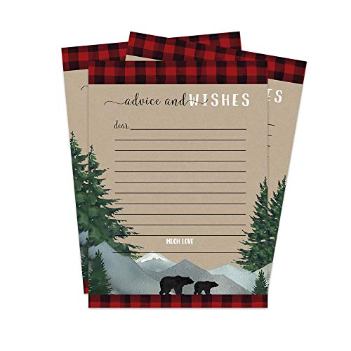 Lumberjack Wishes and Advice for Baby Cards - Pack of 25