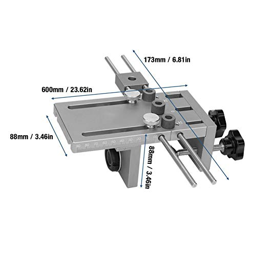 Self Centering Dowelling Jig, 3 in 1 Dowelling Jig Drill Guide Kit Self Centering Hole Puncher Set with 600mm Extension Rod, Woodworking Tools