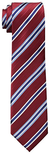 Dockers Big Boys' Stripe Necktie, Red, One Size