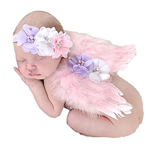 Baby Girls Angel Wings Wing Set Feather Newborn Photography Props - - 7