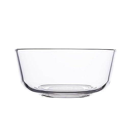 Tazón, tazón de vidrio transparente, vajilla práctica para el ...