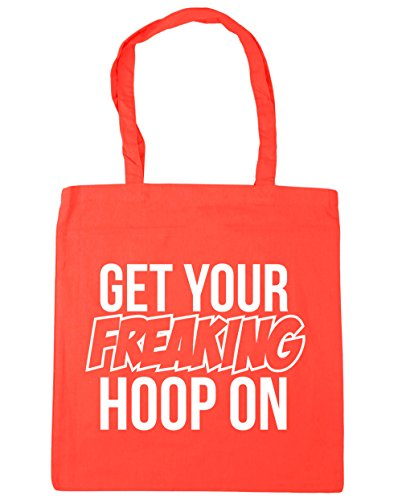 HippoWarehouse Get Your Freaking aro en bolsa de la compra bolsa de playa 42cm x38cm, 10litros Coral