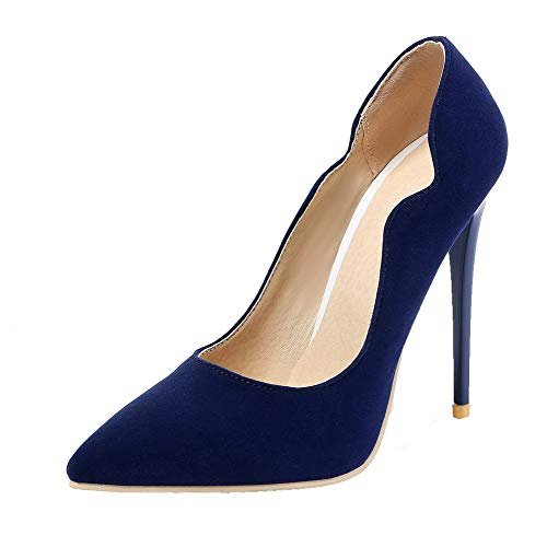 AllhqFashion Flats Ballet Spillo Azzurroms Donna Plastica A FBUIDD005893 Tacco Puro Tirare WrCwr8x4Rq