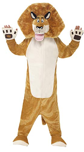 Smiffy's Children's Madagascar Alex The Lion Costume, All-in-one Jumpsuit -