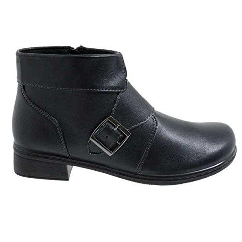 Lisanne Comfort+ Damen Stiefeletten schwarz mit Schnalle Schwarz