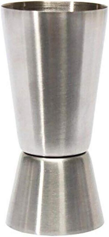 Ruiting Double Doseur en Acier Inoxydable,Jigger Bar Pub Cocktail Party Vin Double Jigger Cup Mesure 25//50 ML