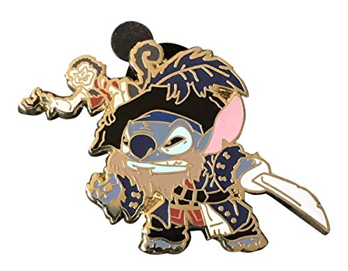 - Disney Pirates of the Caribbean Stitch Captain Barbossa Exclusive Trading Pin