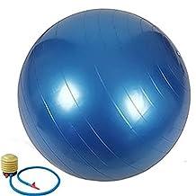 QUBABOBO PVC Anti Burst Exercise Fitness Workout Core Stability Balance Swiss Yoga Ball With Pump
