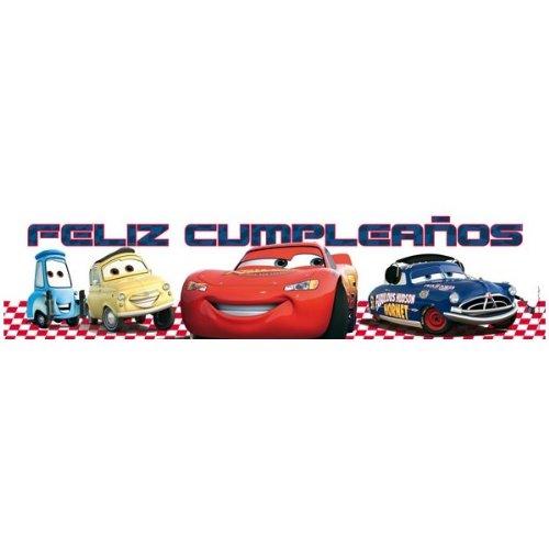 Cartel Feliz cumpleaños Cars: Amazon.es: Juguetes y juegos