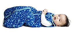 Baby deedee Sleep Nest Tee Baby Sleeping Bag- Playful Whales-Large