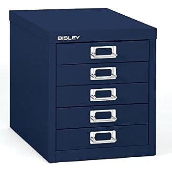 Amazon Com Bisley 5 Drawer Steel Desktop Multidrawer
